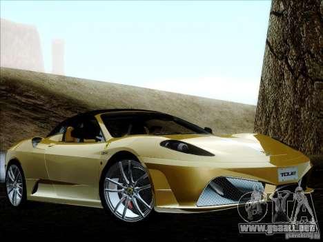 Ferrari F430 Scuderia Spider 16M para vista inferior GTA San Andreas