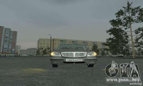 GAZ 3110 para GTA San Andreas vista posterior izquierda