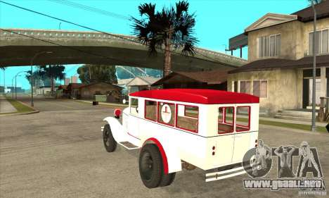 Ambulancia GAZ AA para GTA San Andreas vista posterior izquierda