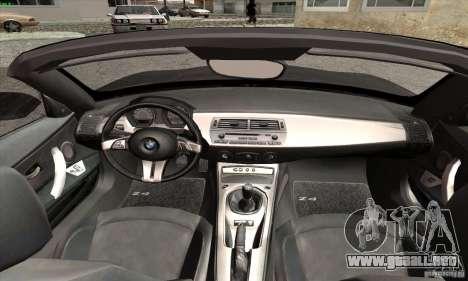BMW Z4 para la visión correcta GTA San Andreas