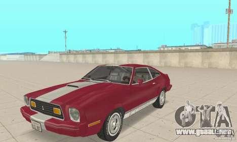 Ford Mustang II 1976 Cobra v. 1.01 para GTA San Andreas