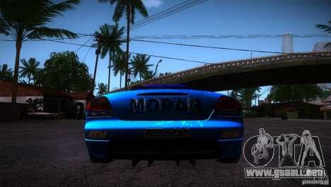 Dodge Viper Mopar Drift para GTA San Andreas vista posterior izquierda