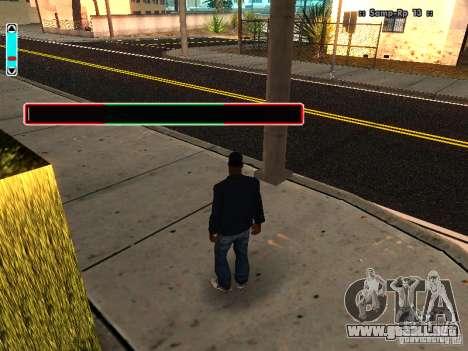 Una nueva interfaz para SAMP para GTA San Andreas sucesivamente de pantalla