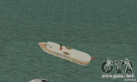 RMS Segwun Ferry para GTA San Andreas vista posterior izquierda