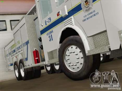 Pierce Puc Aerials. Bone County Fire & Ladder 79 para vista inferior GTA San Andreas