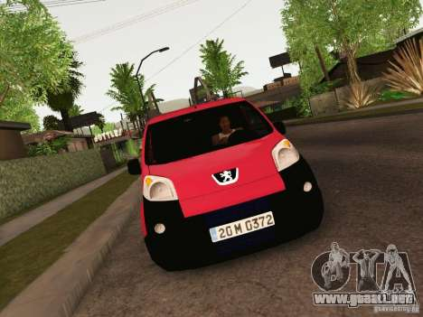 Peugeot Bipper para GTA San Andreas vista posterior izquierda