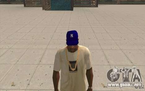Newyorkyankiys casquillo púrpura para GTA San Andreas segunda pantalla