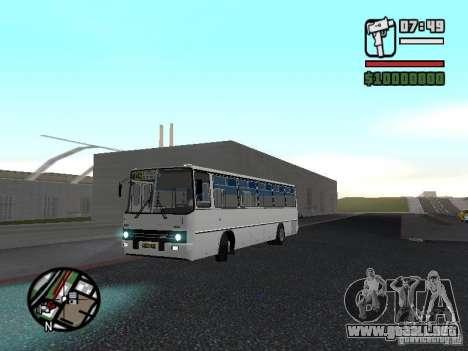 Ikarus 266 ciudad para GTA San Andreas vista hacia atrás