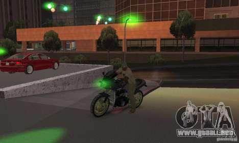 Luces verdes para GTA San Andreas sucesivamente de pantalla