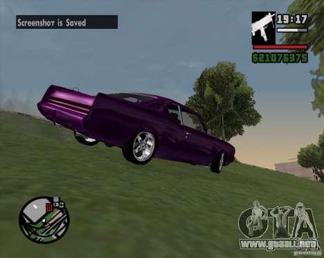 Oldsmobile 442 (Flatout 2) para GTA San Andreas vista hacia atrás