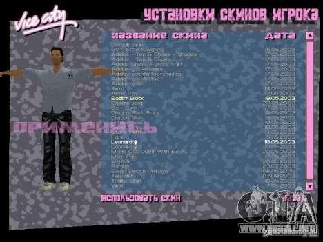 Pack de skins para Tommy para GTA Vice City sucesivamente de pantalla