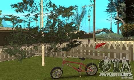 BMX Long 2 New Wheel para GTA San Andreas vista hacia atrás