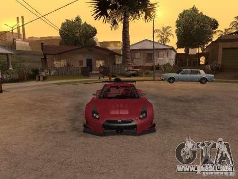 Nissan GT-R R35 para GTA San Andreas vista hacia atrás