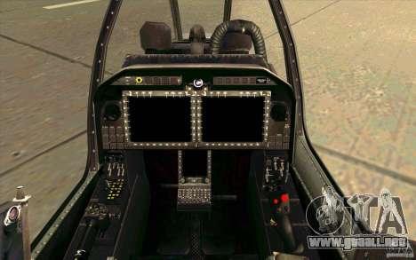 AH-1Z Viper para visión interna GTA San Andreas