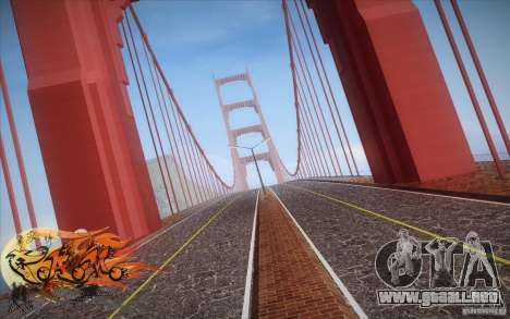 New Golden Gate bridge SF v1.0 para GTA San Andreas tercera pantalla
