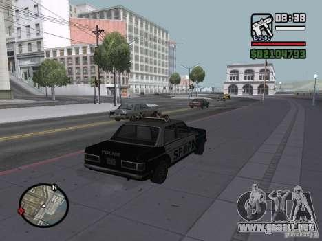 Admiral SFPD para GTA San Andreas left