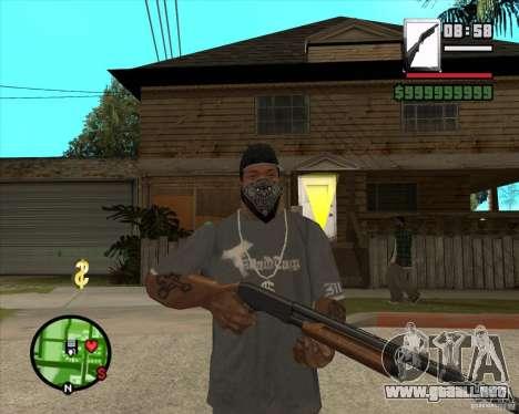 Chromegun para GTA San Andreas segunda pantalla