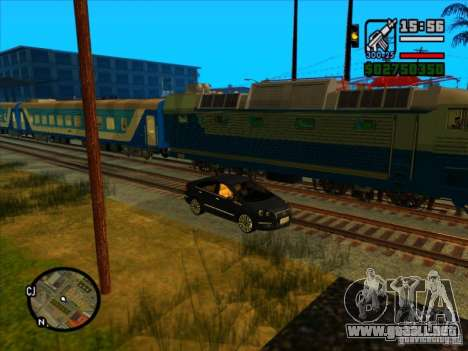 Largo tren para GTA San Andreas sexta pantalla