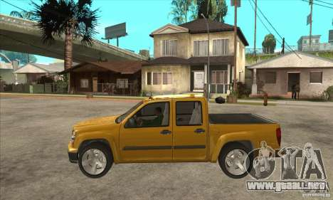 GMC Canyon 2007 para GTA San Andreas left