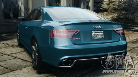 Audi RS5 2011 [EPM] para GTA 4 Vista posterior izquierda