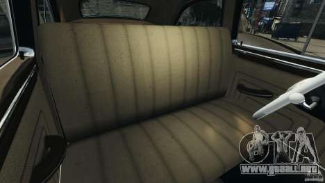 Packard Eight Police 1948 para GTA 4 vista interior