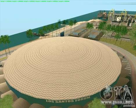 Nuevas texturas Los Santos Estadio Foro para GTA San Andreas tercera pantalla