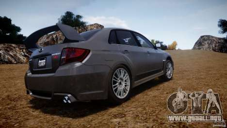 Subaru Impreza WRX STi 2011 para GTA 4 vista superior