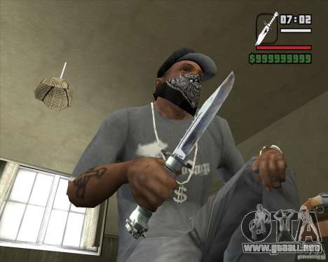 El cuchillo de Nº 3 de la acosadora para GTA San Andreas