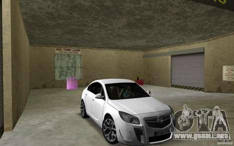 Opel Insignia para GTA Vice City vista posterior