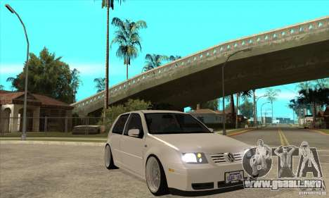 VW Golf 4 V6 Bolf para GTA San Andreas vista hacia atrás