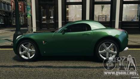 Pontiac Solstice 2009 para GTA 4 left