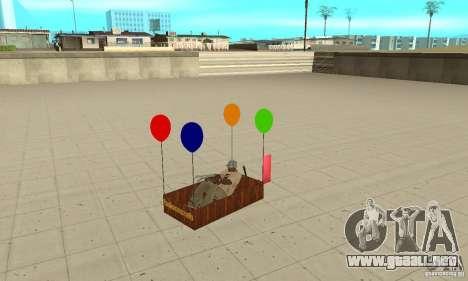 Ballooncraft para GTA San Andreas vista hacia atrás