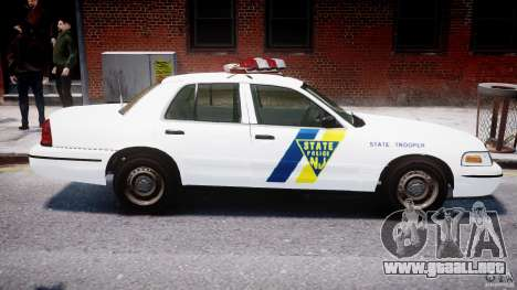 Ford Crown Victoria New Jersey State Police para GTA 4 interior