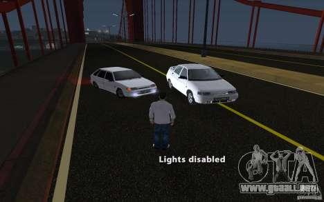 Remote lock car v3.6 para GTA San Andreas segunda pantalla