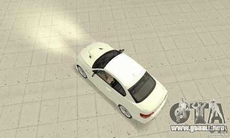 BMW M3 2008 Convertible Hamann para GTA San Andreas vista posterior izquierda