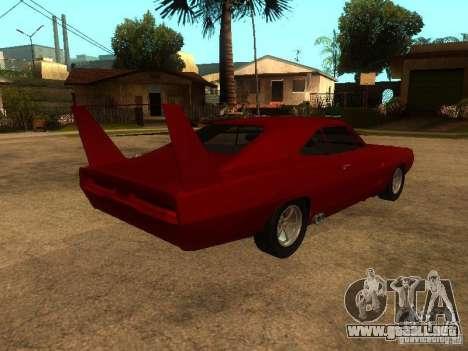 Dodge Charger Daytona Fast & Furious 6 para vista inferior GTA San Andreas