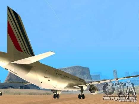 Airbus A320 Air France para la visión correcta GTA San Andreas