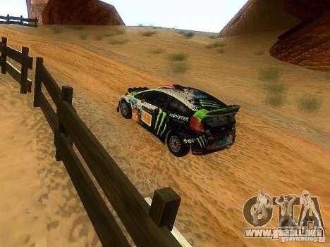 Ford Fiesta RS WRC 2012 para la visión correcta GTA San Andreas