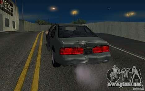 Ford Thunderbird 1993 para GTA San Andreas vista hacia atrás