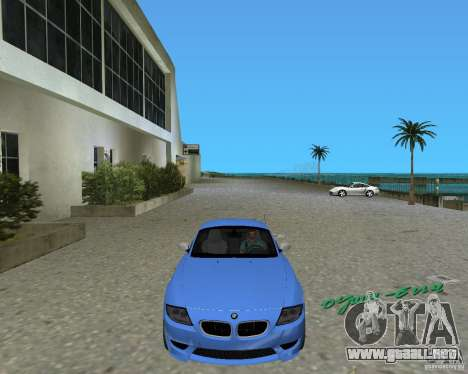 BMW Z4 para GTA Vice City vista lateral izquierdo