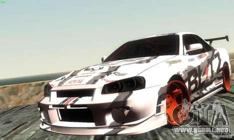Nissan Skyline R34 Blitz para GTA San Andreas