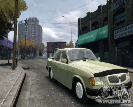 Volga GAZ 3110 para GTA 4 vista hacia atrás