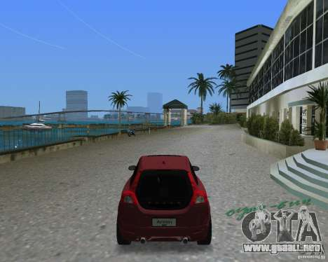 Volvo C30 para GTA Vice City vista lateral izquierdo
