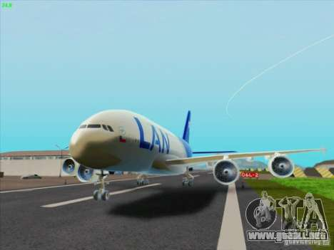 Airbus A380-800 Lan Airlines para GTA San Andreas left