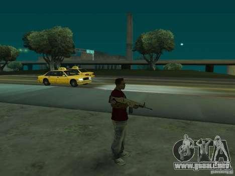 FN Scar-L HD para GTA San Andreas tercera pantalla