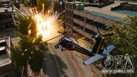 Un helicóptero con un RPG para GTA 4