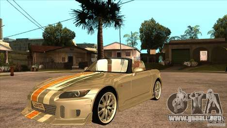 Honda S2000 Tuned v1 para vista inferior GTA San Andreas