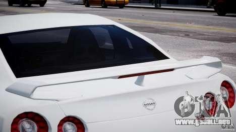Nissan Skyline GT-R R35 para GTA 4 vista desde abajo