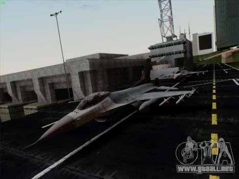 F-16C Warwolf para GTA San Andreas left