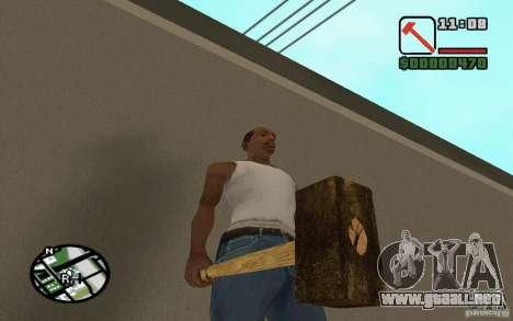 Hoz y martillo para GTA San Andreas sucesivamente de pantalla